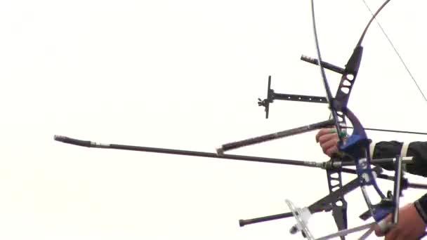 Lučištníci střílí cíle s lukem a šípem