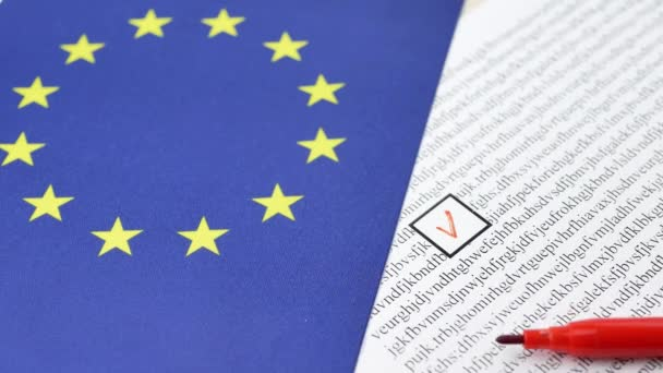 Voting paper ballot in EU