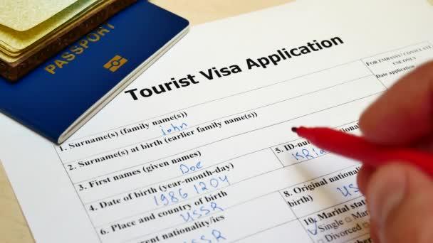 In Touristen-Visum-Antragsformular verweigert