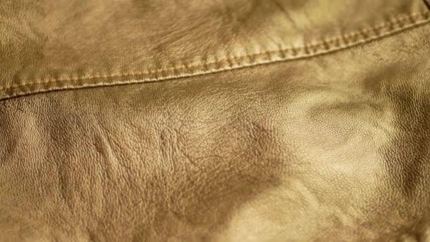 Zlaté žluté syntetické kožená bunda