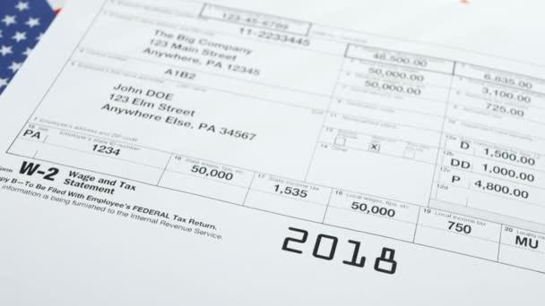 Formulář W-2 daňového přiznání a daňové přiznání