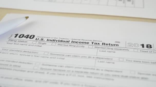 Daňový doklad za 1040 příjmů Irs formulář
