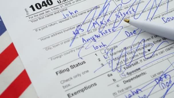 Americký 1040 DZP FO formulář pro vrácení. V depresi a ve stresu nebo trápí během podání daňových formulářů koncepce