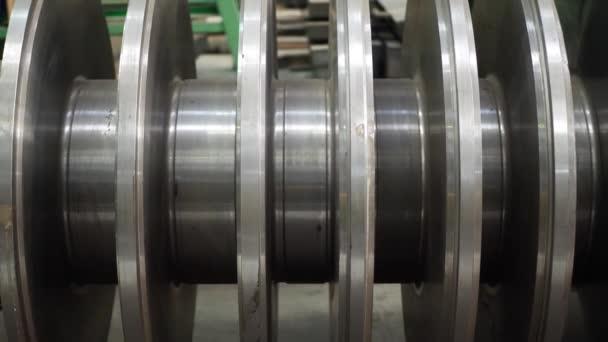 Industriedampfturbine in der Werkstatt