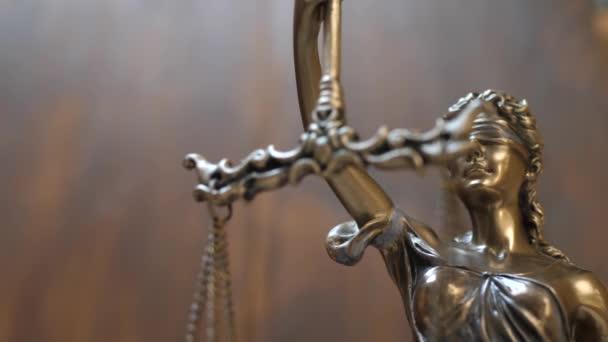 Igazságügyi és jogi koncepció a fából készült háttér