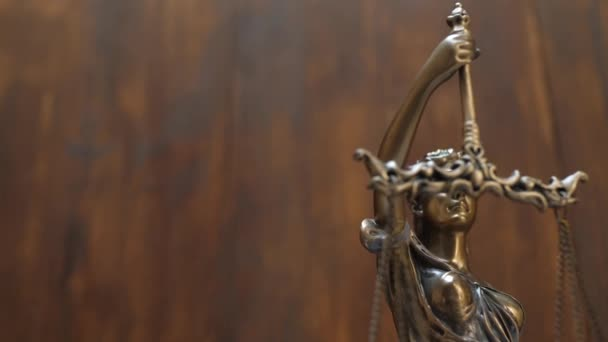 Justice and Law Concept on Wooden Background