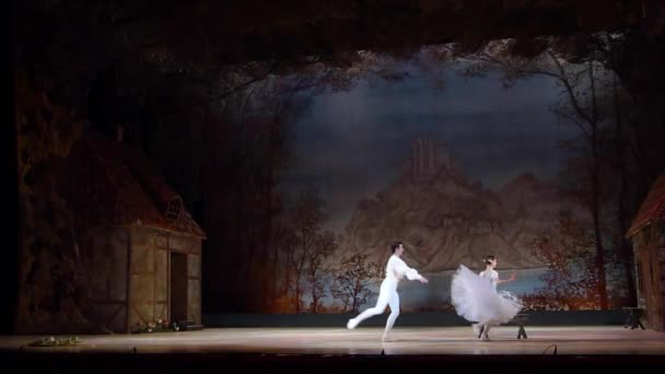 DNIPRO, UKRAINE - NOVEMBER 3, 2018: Classical ballet Giselle by Adolphe Adam performed by members of the Dnipro Opera and Ballet Theatre.