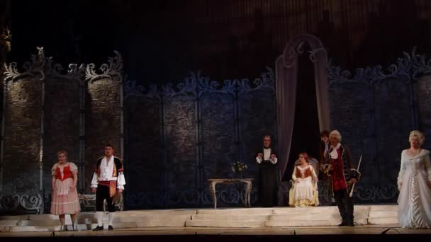 DNIPRO, UKRAINE - OCTOBER 12, 2018: The Marriage of Figaro opera performed by members of the Dnipro Opera and Ballet Theatre