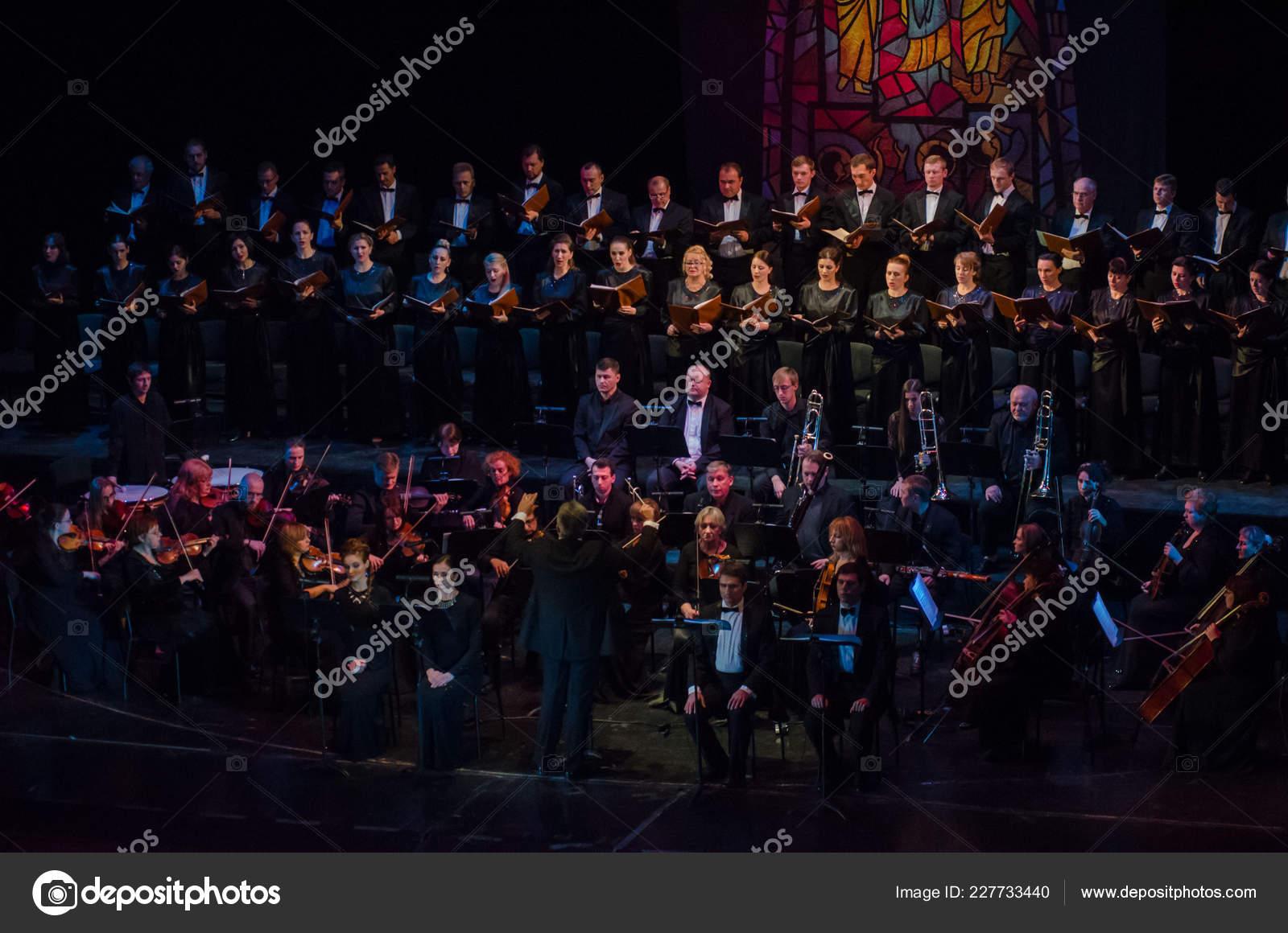 Dnipro Ukraine November 2018 Requiem Mozart Performed Members Dnipro