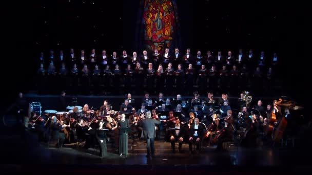 DNIPRO, UKRAINE - FEBRUARY 20, 2019: Requiem by Verdi performed by members of the Dnipro Opera and Ballet Theatre.