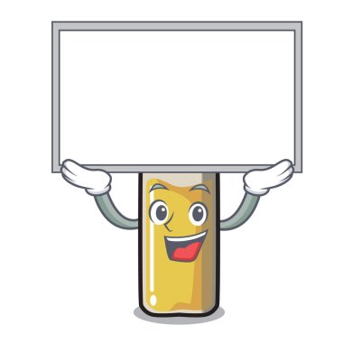 Up board ampoule character cartoon style vector illustration