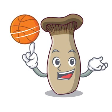 With basketball king trumpet mushroom character cartoon