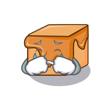 Crying caramel candies mascot cartoon vector illustration