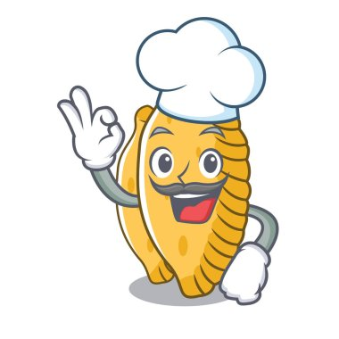 Chef pastel character cartoon style
