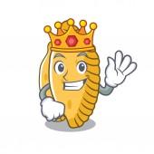 Král pastelové maskot kreslený styl