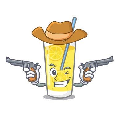 Cowboy lemonade character cartoon style