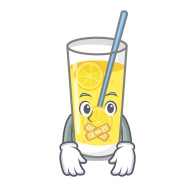 Silent lemonade mascot cartoon style vector illustration