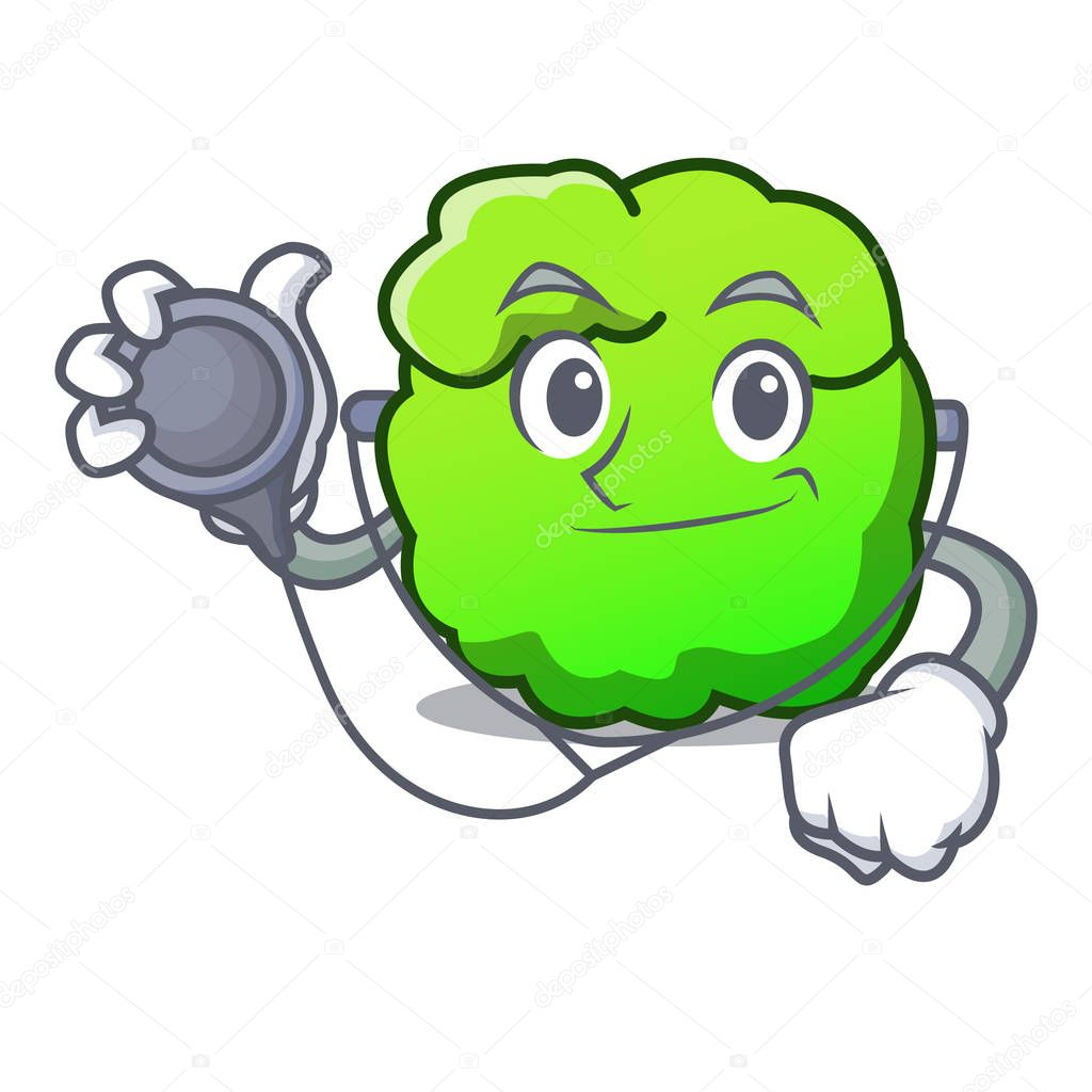 Doctor shrub character cartoon style