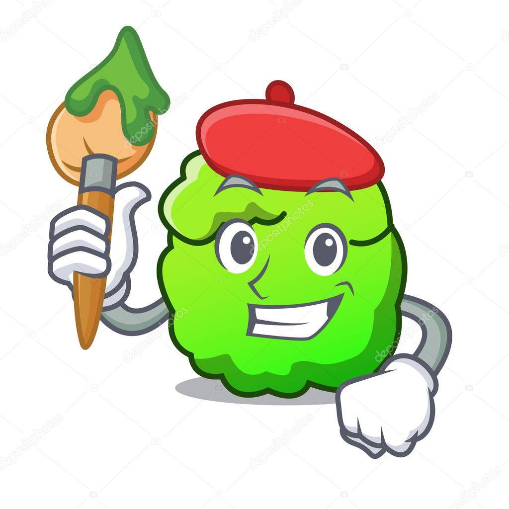 Artist shrub character cartoon style