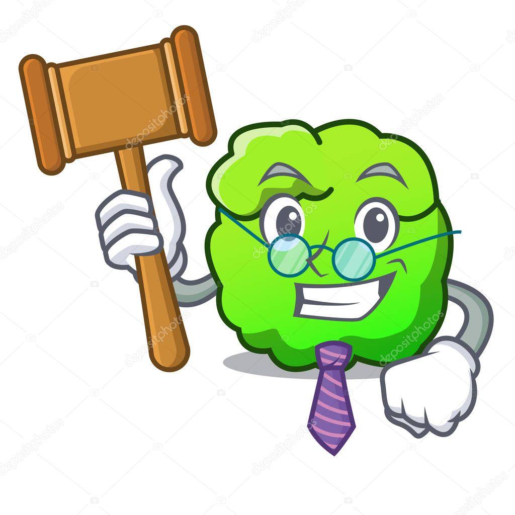 Judge shrub mascot cartoon style
