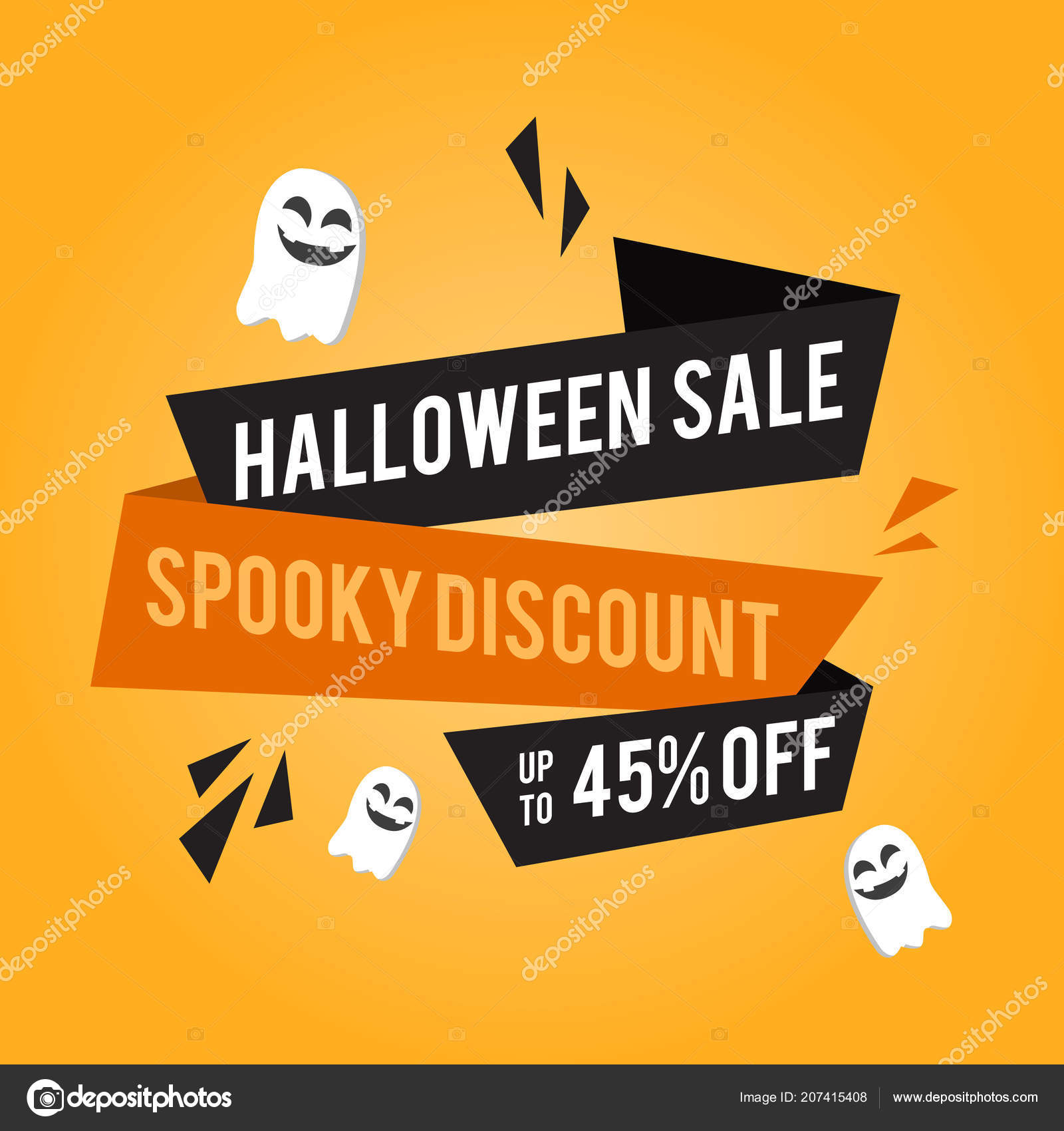 Halloween Sale Banner With Pumpkins U2014 Stock Vector