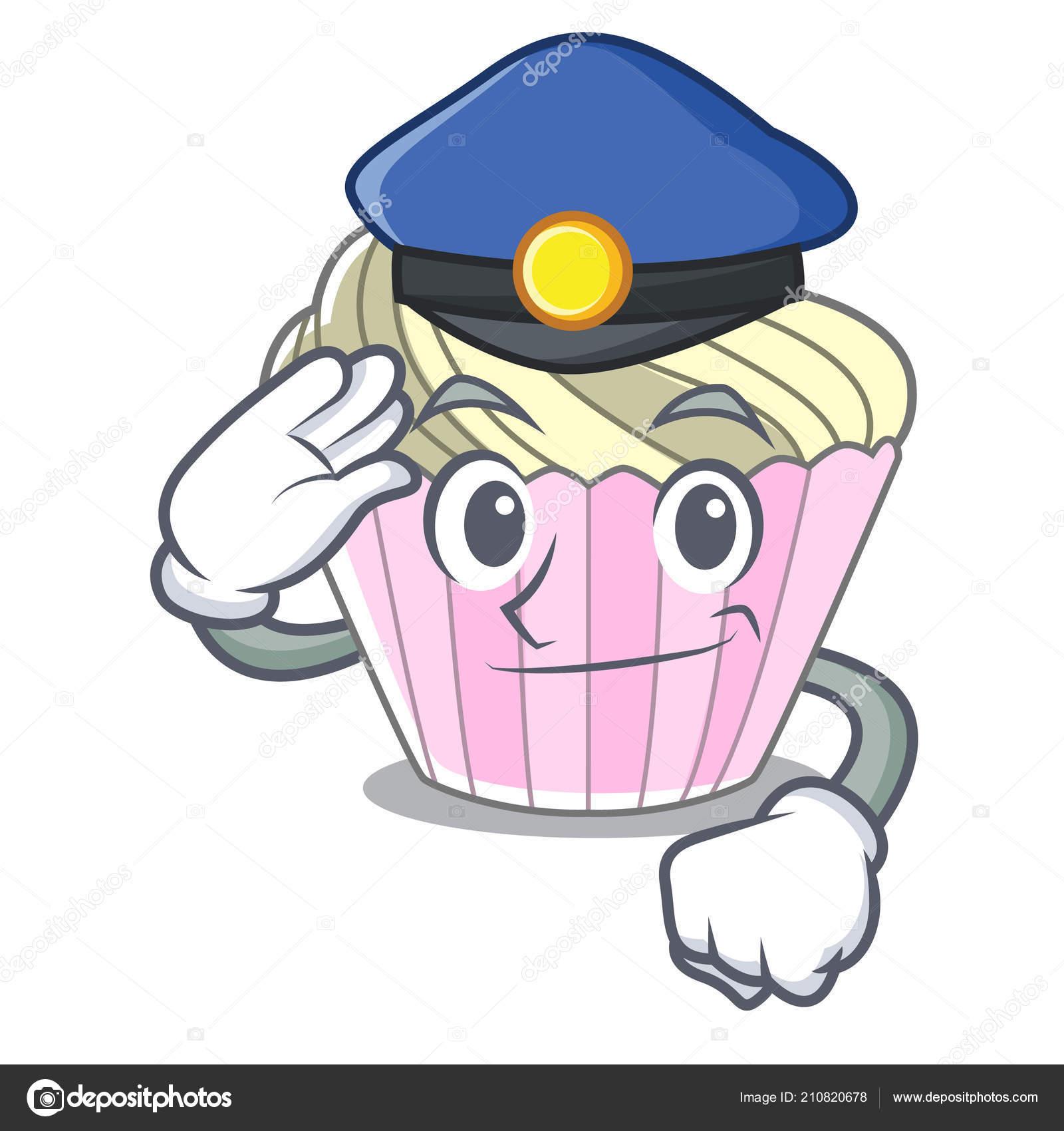 Policie Dort Dortik Charakter Kreslene Vektorove Ilustrace Stock