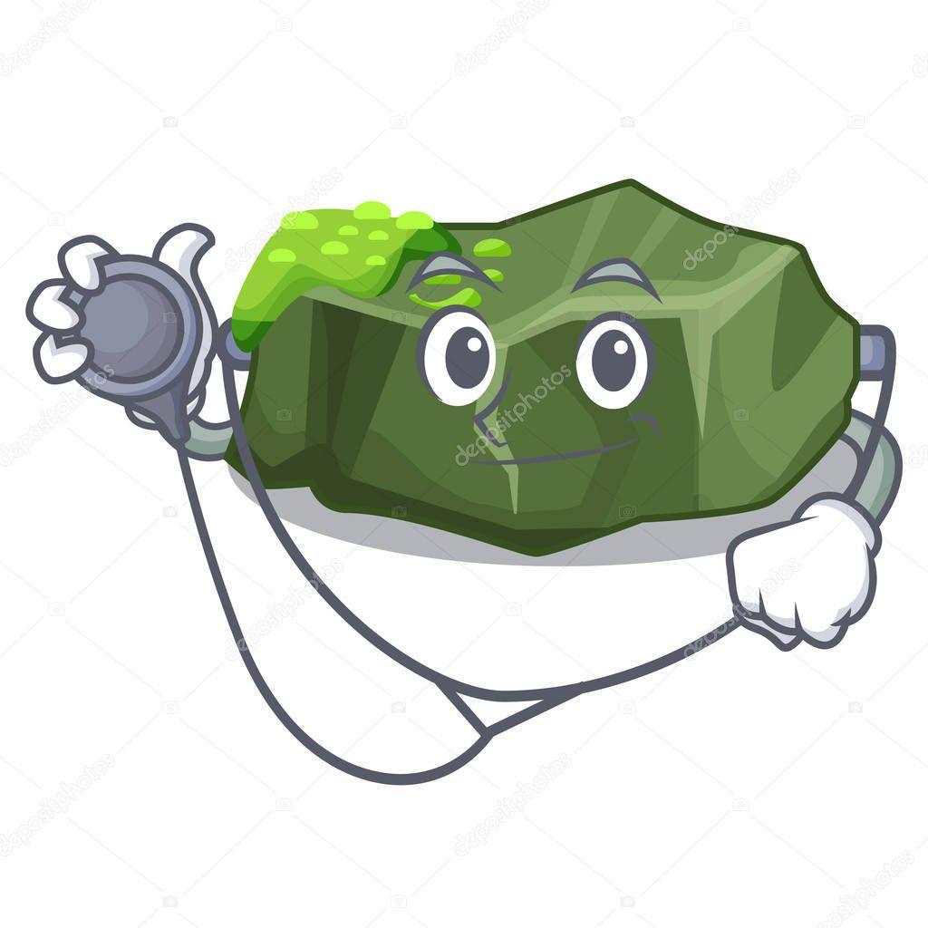 Doctor cartoon green rock sample of high grade vector illustration