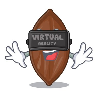 Virtual reality pecan nuts pile on plate cartoon