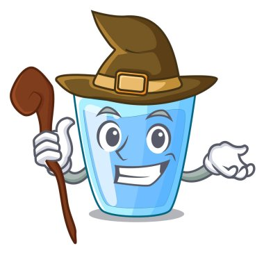 Witch water glass isolated on the mascot