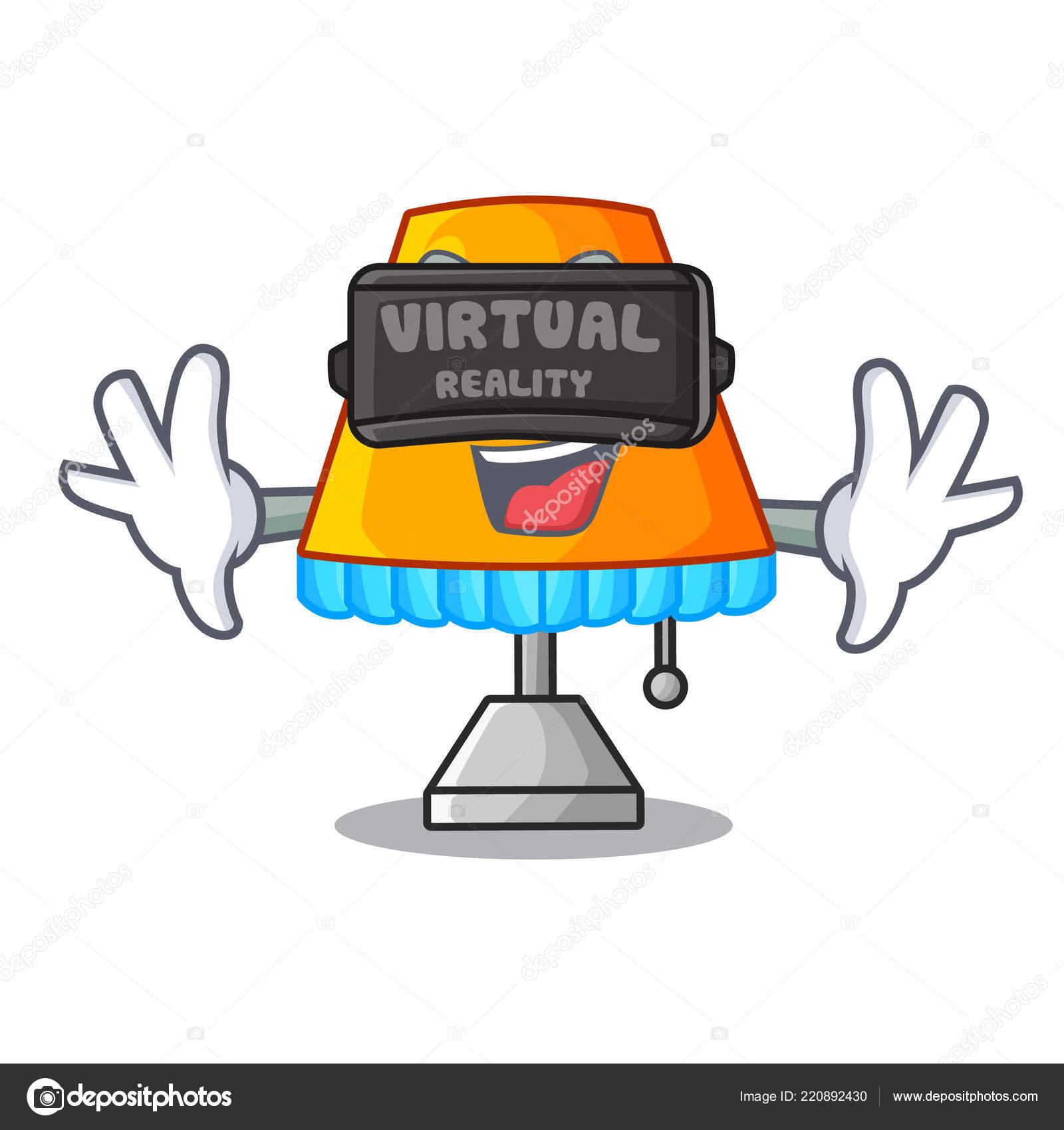 Virtualni Realita Kresleny Hlidani Zidlicka Vektorove Ilustrace