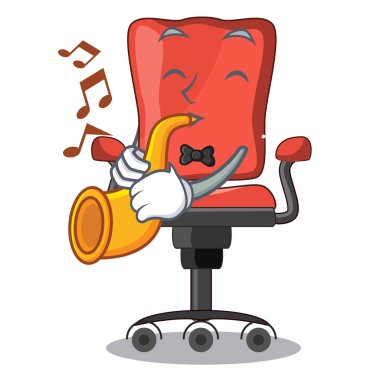 With trumpet cartoon desk chair in modern living room