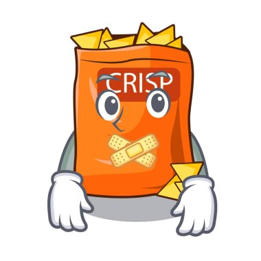 Silent chips isolated on a collection mascot vector illustration