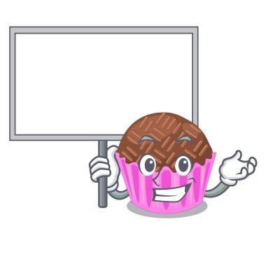 Bring board bragadeiro in a variety of cartoon vector illustartion