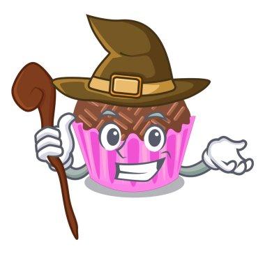 Witch bragadeiro presented in the character jar vector illustartion
