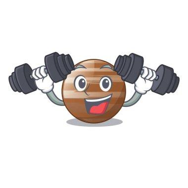Fitness planet Jupiter in form of cartoon vector illustration