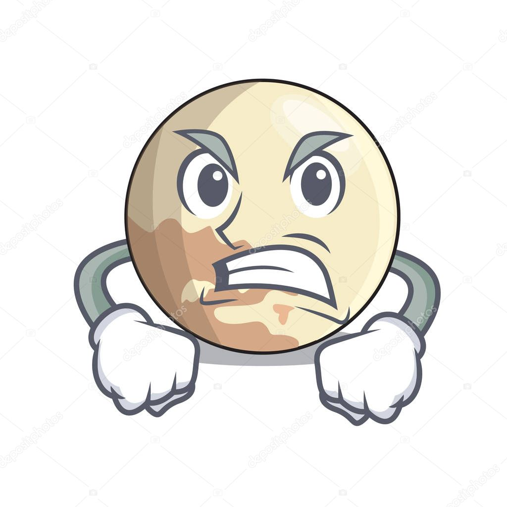 Wütend Pluto Karikatur Planeten Oberhalb Der Himmel Vektor