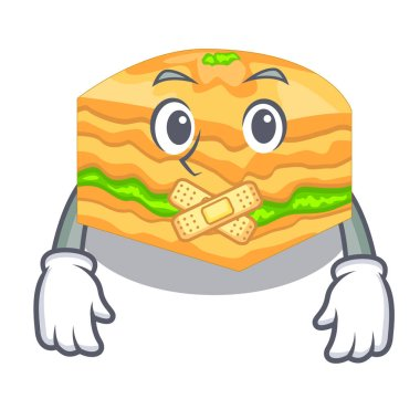 Silent baklava is isolated the with mascot vector illustration