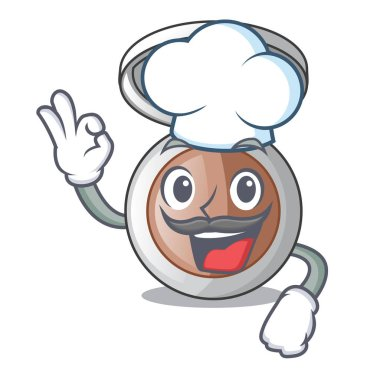 Chef powder makeup isolated in the mascot vector illustrartion