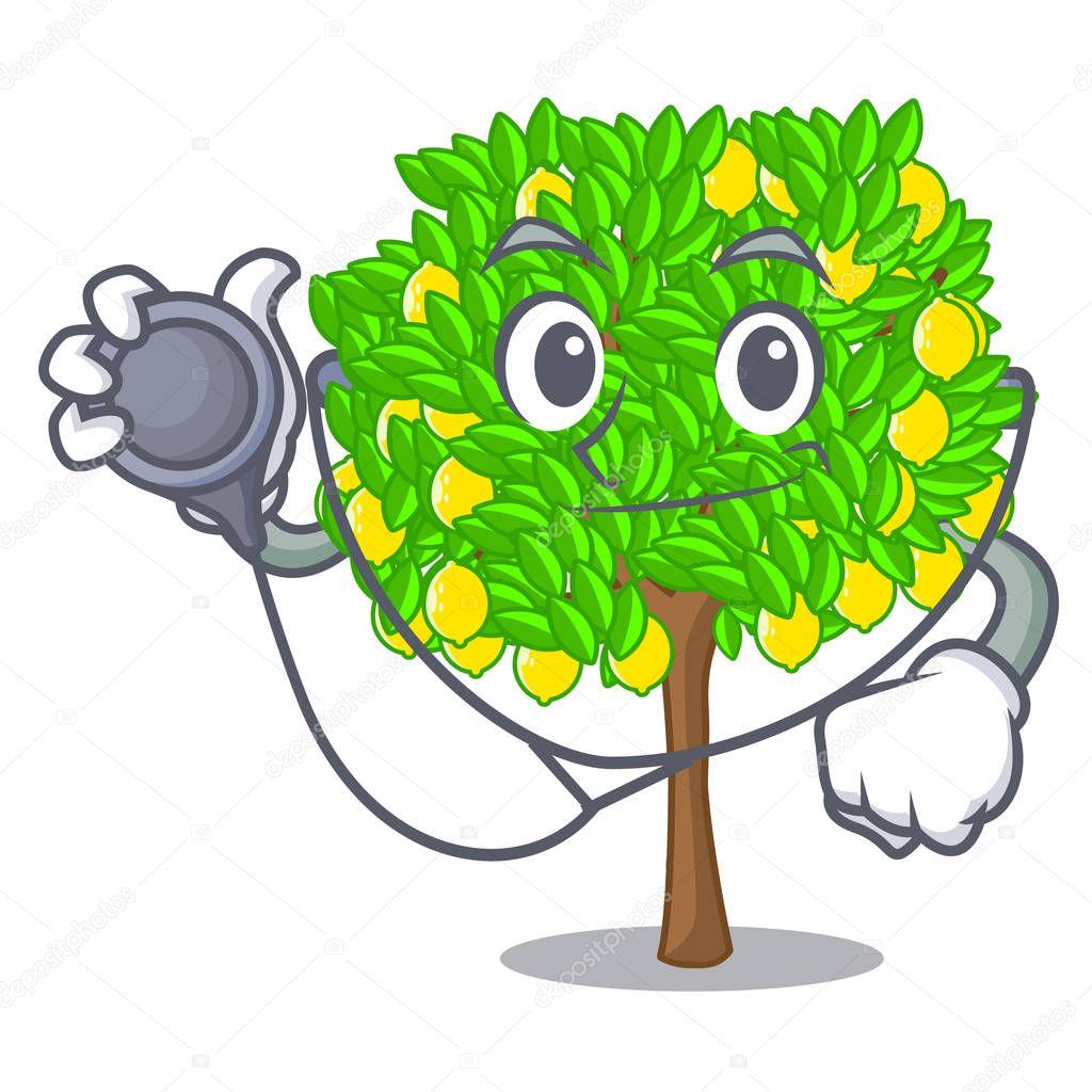 Doctor lemon tree in the cartoon shape