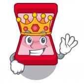 Král snubní prsten krabice v sáčku charakter