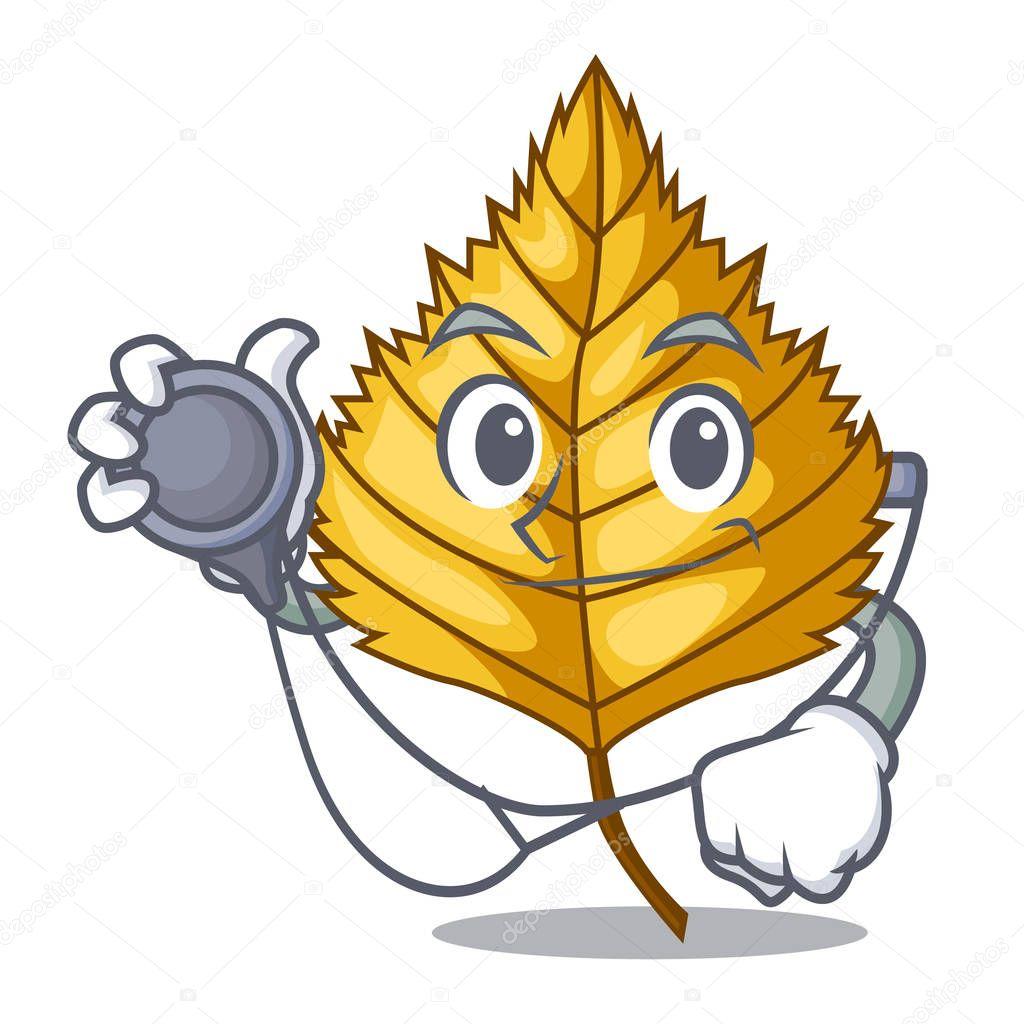 Doctor birch leaf in the mascot shape