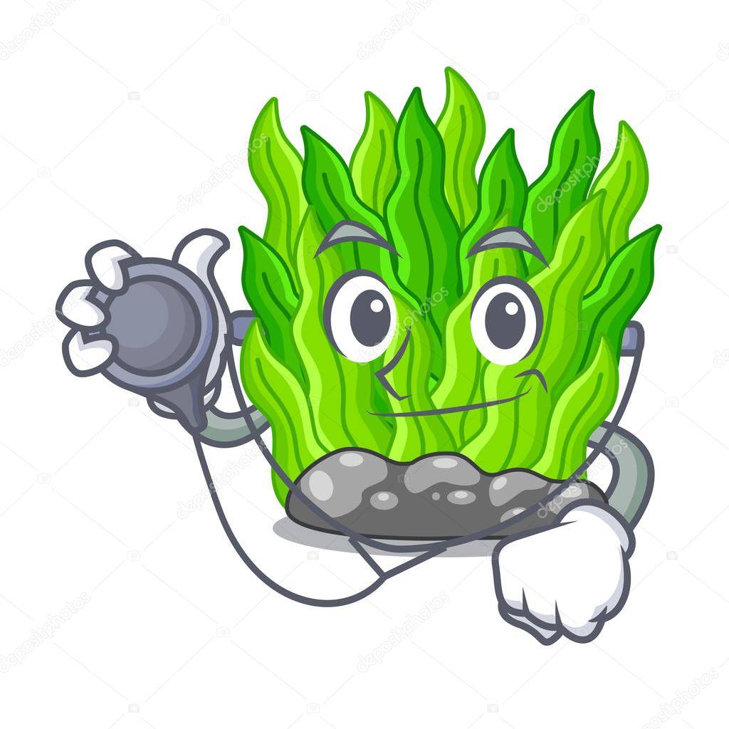Doctor green seaweed in the cartoon shape