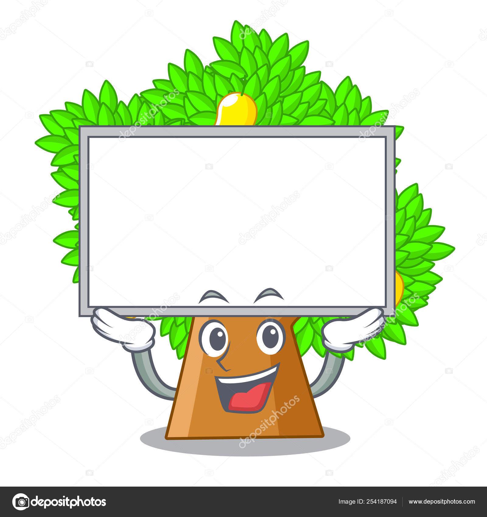Up Board Mango Tree Isolated With The Mascot Stock Vector C Kongvector 254187094 Foam finger toy cartoon mango tree above table. up board mango tree isolated with the mascot stock vector c kongvector 254187094