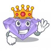 Král fialový diamant v kreslené krabici