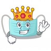 Královská chirurgická maska v kreslené peněžence