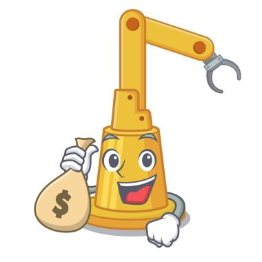 With money bag assembly automation machine isolated the mascot