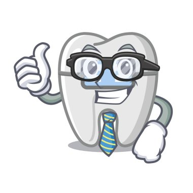 Businessman braces isolated with in the cartoon
