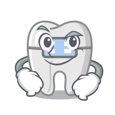 Smirking braces isolated with in the cartoon