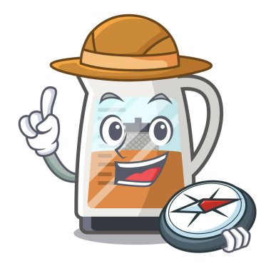 Explorer tea maker is served in cartoon bottle
