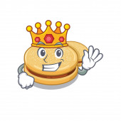 Král alfajores izolovaný v maskota